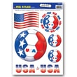 Beistle 12in. x 17in. Peel 'N Place Sticker, United States, 18/Pack