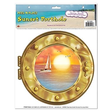 Hublot avec coucher de soleil Peel 'N Place, feuille de 12 po x 15 po, 5/paquet