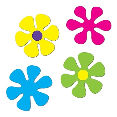 Retro Flower Cutouts, 12