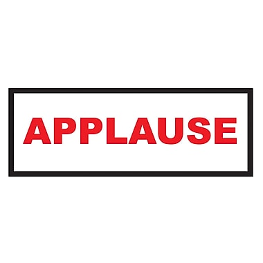 Affiche « Applause », 8 x 22 po, paquet de 9