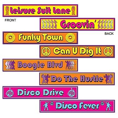 Découpes panneaux de rues disco, 4 x 24 po, 12/paquet