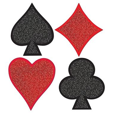 Découpes Couleurs de cartes à paillettes, 13 po, paq./8