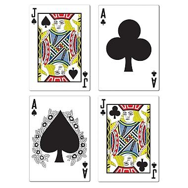Découpes Black jack, 17 ½ po, paq./12