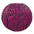 Beistle 9 1/2in. Zebra Print Paper Lanterns, Cerise/Black, 6/Pack