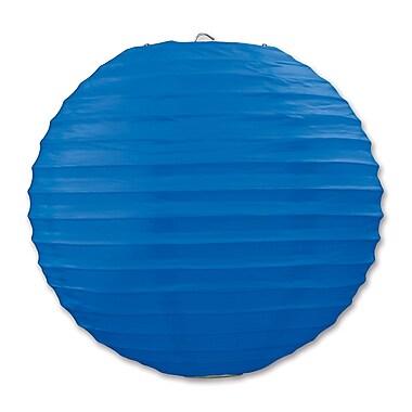 Lanterne en papier, 9 1/2 po, bleu, paquet de 6