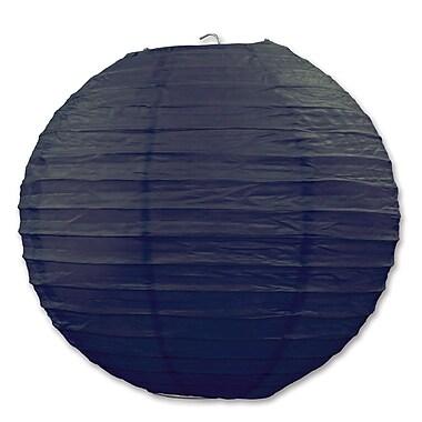Lanterne en papier, 9 1/2 po, noir, paquet de 6