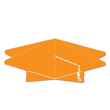 Centre de table 3D en forme de mortier, 10 1/2 po, orange, paquet de 5