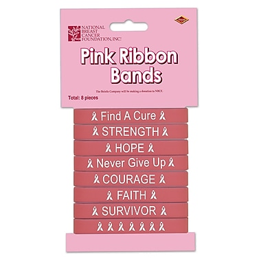 Beistle Ribbon Bands, Pink