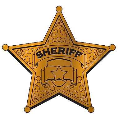 Foil Sheriff Badge Silhouette, 12