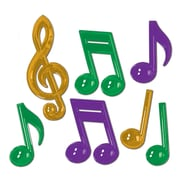 "Beistle 13"" Plastic Musical Notes, Assorted, 14/Pack"