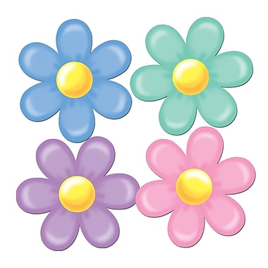 Pastel Retro Flower Cutouts, 14