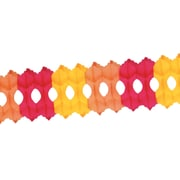 """Arcade Garland, 5-1/2"""" x 12', Gold/Orange/Red, 3/Pack"""