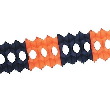 Guirlande Arcade, 5 1/2 po x 12 pi, noir et orange, paq./3