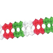 "Arcade Garland, 5-1/2"" x 12', Red/White/Green, 3/Pack"