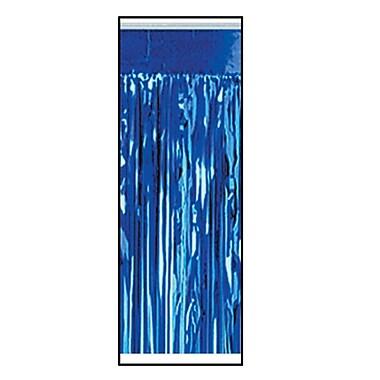 Jupe de table métallisée, 1 épaisseur, ignifuge, 30 po x 14 pi, bleu