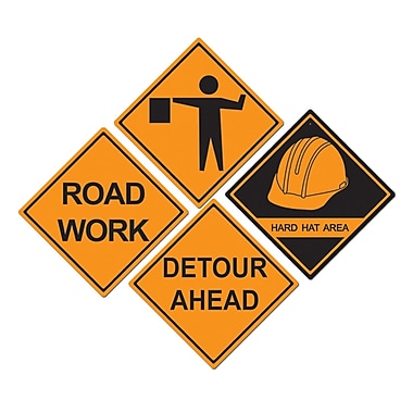 Construction Sign Cutouts, 16