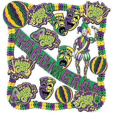 Beistle 19-Piece Mardi Gras Decorating Kit