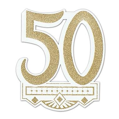 Écusson 50e anniversaire de mariage, 14 po, paquet de 5