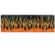 """Beistle 14"""" x 4' Flame Fringe Banner, Black/Orange, 4/Pack"""