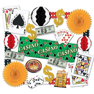 Beistle 24-Piece Casino Decorating Kit