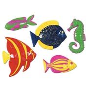 "Beistle 11 1/2"" - 13 3/4"" Plastic Tropica Fish, Assorted, 10/Pack"