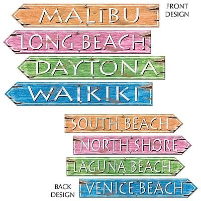 """""Beistle 3 3/4"""""""" x 23 3/4"""""""" Beach Sign Cutouts, 12/Pack"""""" 1069809"