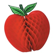 "Beistle 14"" Tissue Apple, Red/Green, 2/Pack"