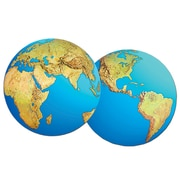 """Planet Earth Cutout, 16"""", 5/Pack"""