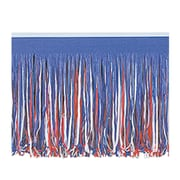 "Beistle 15"" x 10' 6-Ply Tissue Fringe Drape, Red/White/Blue, 2/Pack"