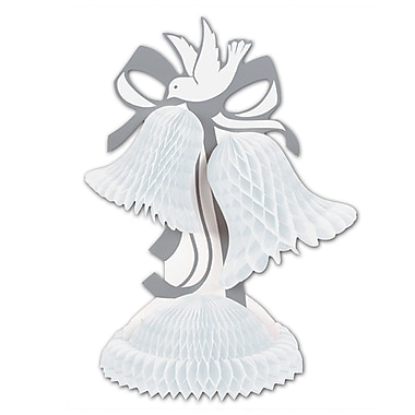 White Tissue Bell Centerpiece, 12