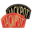 "Beistle 10 1/2"" x 18"" Glittered Jackpot Sign, Black/Red/Gold, 4/Pack"