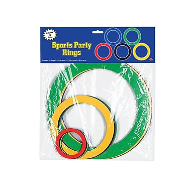 Sports Party Rings, Assorted, 30/Pack