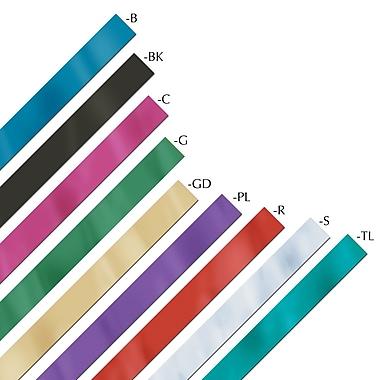 Banderole métallisée ignifuge Gleam 'N Streamer, 2 po x 200 pi, noir, 2/paquet