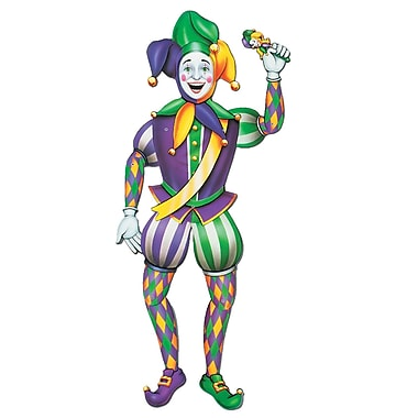 Jointed Mardi Gras Jester, 3' 2