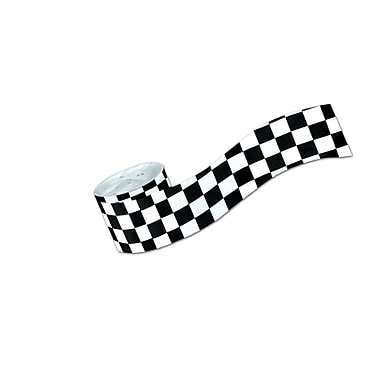 Flame Resistant Checkered Crepe Streamer, 2-1/2