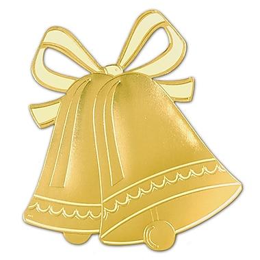 Silhouette scintillante cloches de mariage dorées, 16 1/2 po, paquet de 5