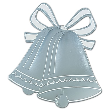 Silver Foil Wedding Bell Silhouette, 16-1/2
