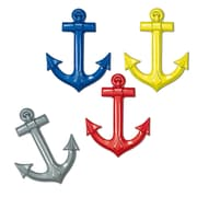 Beistle 25 Plastic Ships Anchors, Assorted, 24/Pack
