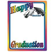 "Beistle 23"" x 18"" Happy Graduation Partygraph, 5/Pack"