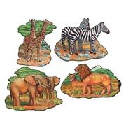 "Beistle 16"" Zoo Animal Cutouts, 12/Pack"