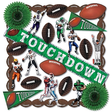 Beistle 25-Piece Touchdown Decorating Kit