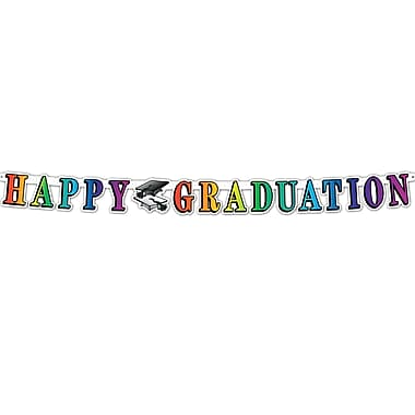 Banderole « Happy Graduation » 5 po x 5 pi, paquet de 4