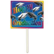 "Beistle 12"" x 15"" Happy Graduation Yard Sign, 3/Pack"