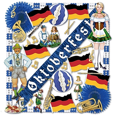 Beistle 37-Piece Flame Resistant Oktoberfest Decorating Kit