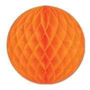 "Beistle 12"" Tissue Ball, Orange, 4/Pack"