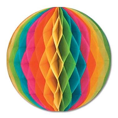 Boule en papier, 19 po, multicolore, 2/paquet