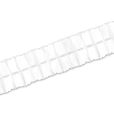 Guirlande de feuilles, 4 1/2 po x 12 pi, blanc, 4/paquet