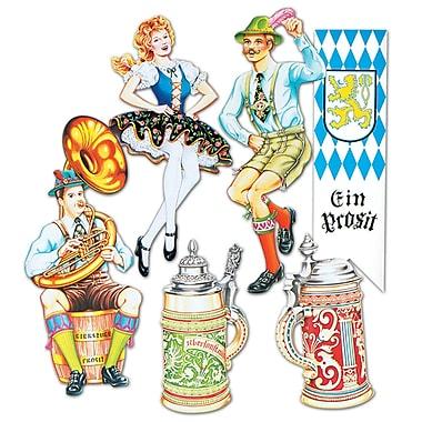 Découpes à l'ancienne en carton Oktoberfest, 20 po, paq./12