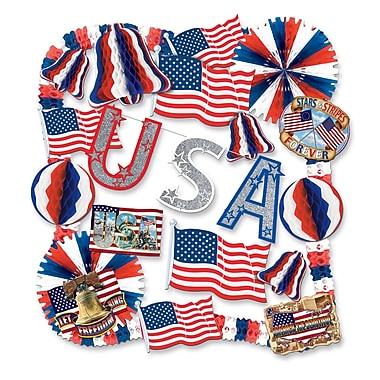 Beistle 22-Piece Patriotic Decorating Kit