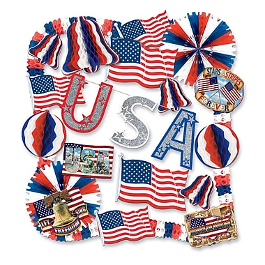 Beistle 22-Piece Flame Resistant Patriotic Decorating Kit